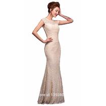 Vestido Feminino Renda Longo Festa Fica #vl3 Maravilhoso