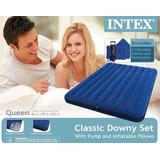 Colchón Inflable 2 Plzs Intex+infl+almohada / Mrtecnología