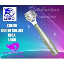 Lobo Credo Corta Callos Acero Inox. Profesional + 10 Navajas