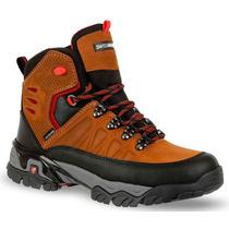 Botas De Montaña Swissbrand De Piel Cafe Hiking Boots Casco