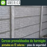 Cerco Muro Premoldeado 1ra Simil Ladrillo Colocado A $650 M2