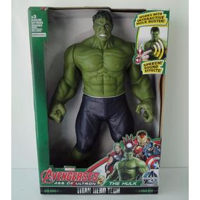 Boneco Hulk Articulável Avengers Vingadores Som Luz