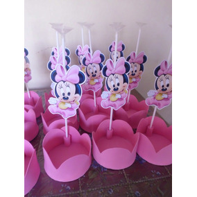 Centros De Mesa Minnie Bebe Simple Goma Eva