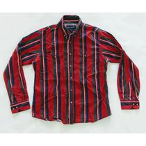 Camisa Wrangler Rayada Clasica De Vestir Hombre Talle M