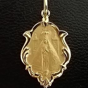 Medalha 2 Cm Nossa Senhora Aparecida Ouro 18k 750 Pingente