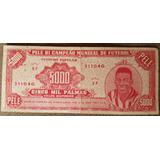 Cédula 5000 Palmas Pelé Bi Campeão Mundial De Futebol 1958
