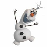 Muñeco Olaf De Plástico Personaje De La Pelicula Frozen