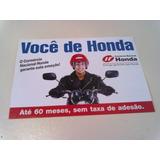 Folheto Do Consórcio Nacional Da Moto Honda 2002