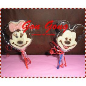 Chupetines De Chocolarte Mickey,minnie,sapo Pepe,piratas,etc