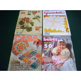 Revistas De Manualidades Punto De Cruz Y Ganchillo Paquete 4