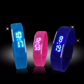 Reloj Pulsera Digital Led Silicona Deport Hom/mujer Colores