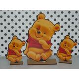 6 Centros De Mesa Fibrofacil Winnie Pooh Bebe