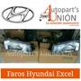 Faros Derecho Hyundai Excel