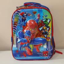 Mochila Escolar Infantil Costas Super Herói Homem Aranha 3d