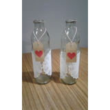 Botella Vintage Ideal Centro De Mesa Florero Boda 15 Años