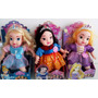 Bonecas Princesas Musical Cinderella-branca De Neve-rapunzel