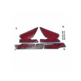 Kit Jogo Adesivo Faixa Moto 125 Fan 2012 Ks Preta 1036