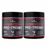 Combo Jack 3d - 2x Monster Pre-treino 300g Limão Powerfoods