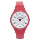 Reloj Lorus By Seiko R2325jx9 Dama Analogico Rojo