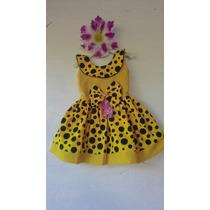 Vestido Abelhinha Baby Luxo, Infantil Menina.