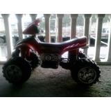 Moto Roja 4 Ruedas Electrica (usada)