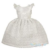 Hemoso Vestido Blanco Fiesta Niña Elegante 202