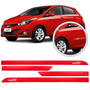 Friso Lateral Hyundai Hb20 2013 14 15 16 Vermelho Peper