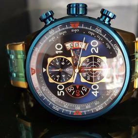 Relógio Invicta 19173 Aviador Banho Ouro 18k Origi Promoção