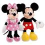 2 Peluches Mickey Y Mimi Mouse Disney Minnie Muñecos 23cm