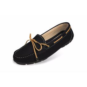 Zapato Mocasin Mega Para Dama 1682 Negro