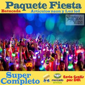Paquete Batucada Articulos Led- Neon Fiesta Boda Antro Xv Dj