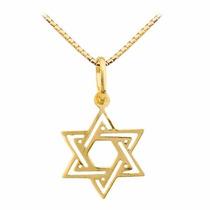 Corrente Ouro18k+ Pingente Ouro 18k Estrela Davi Viagold C70