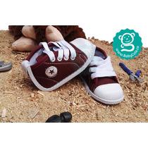 Tenis Vinotinto Para Bebés - Zapatos No Tuerce Niños Unisex