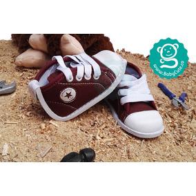 Tenis Vinotinto Para Bebés - Zapatos No Tuerce Niños Babycut