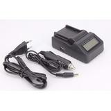 Carregador Bateria Np- F970 Sony F570 Digital + Veicular Usb