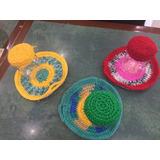 Conjunto De Frasco Con Agarraderas Tejidas Al Crochet
