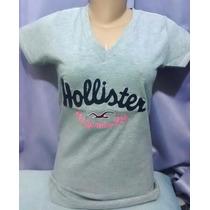Camiseta Feminina - Blusinhas Hollister - Kit C/ 05