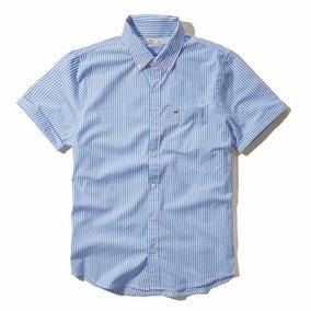 Camisa Social Hollister Listrada - Manga Curta - Tam M - P6
