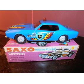Antiguo Auto Saxo Patrullero Camaro Chapa Friccion Del 70