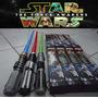 Kit C/3 Espadas Sabre Star Wars+pilhas Espacial C/ Luz E Som