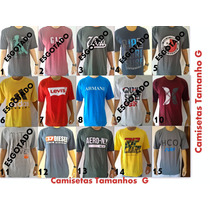 Kit 20 Camisetas Camisas Masculinas Original Tommy Hollister
