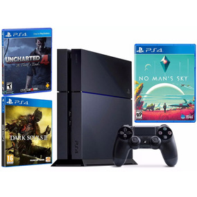 Ps4 6 Jogos: Uncharted , No Mans Sky, Dark Souls2, Gta5: