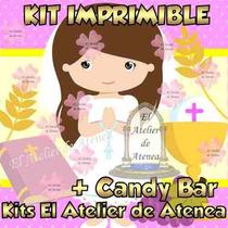 Kit Imprimible Primera Comunion Nena Candy Bar Golosinas