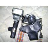 Camara De Foto 35 Mm Fujica Optica Fujinon 55mm Y Flash