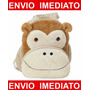 Mochila Infantil Macaco Tom - Menino E Menina - Bebê - G