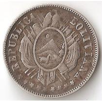 Bolivia, 20 Centavos, 1883. Plata. Vf
