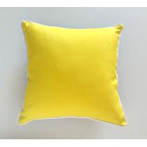 Almofada Color Amarela E Preta Com Cordão Branco