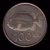 Moeda Da Islandia 100 Krona Datas Variadas Mbc 26 Mm