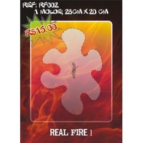 Molde Vazado True Fire Aerografia E Pinturas Rf002