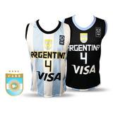 Camisetas Basquet Argentina Adulto Niño Infantiles Basket